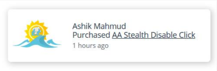 AA Fake Sales Notification